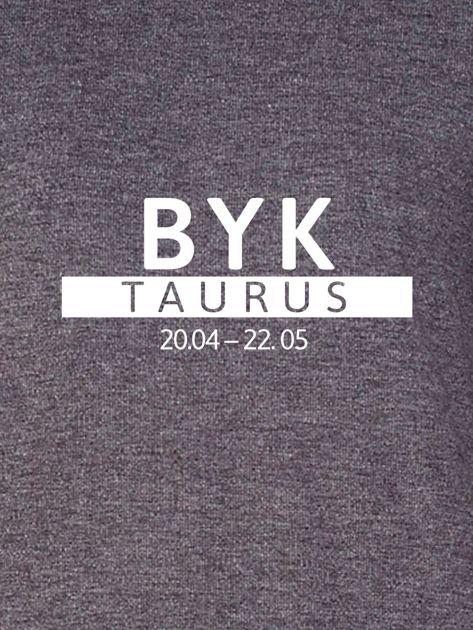 Damska bluza ze znakiem zodiaku BYK ciemnoszara                              zdj.                              2