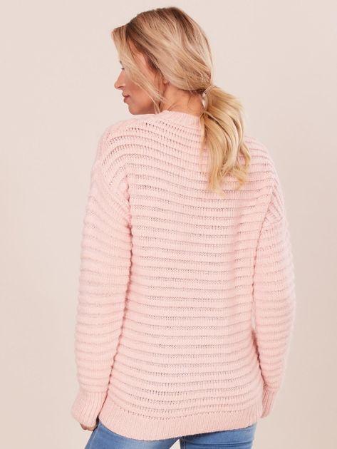 Damski jasnoróżowy sweter damski                              zdj.                              2