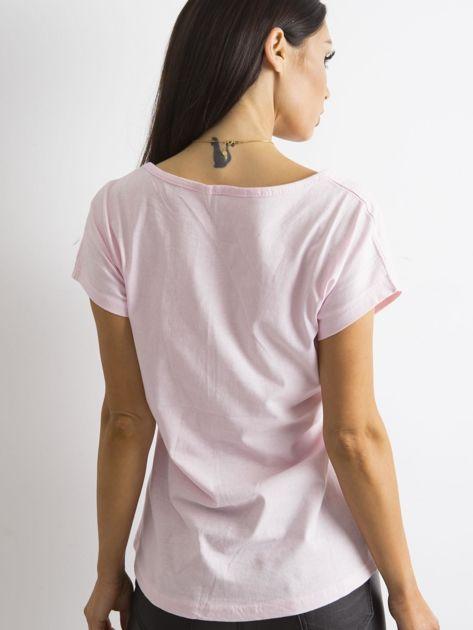 Damski t-shirt jasnoróżowy                              zdj.                              2