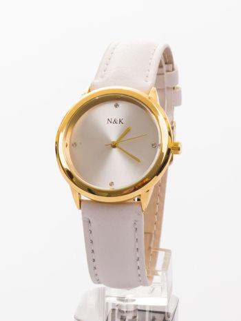 Damski zegarek z cyrkoniami. Mała, czytelna tarcza