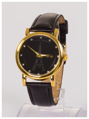 Damski zegarek z cyrkoniami z motywem wieży Eiffla na tarczy                                  zdj.                                  2