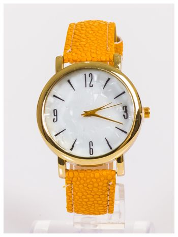 Damski zegarek z dużą i wyraźną perłową tarczą CAMEL                                   zdj.                                  1