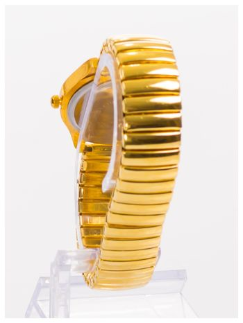 Damski zegarek z owalną tarczą na elastycznej bransolecie                                   zdj.                                  4