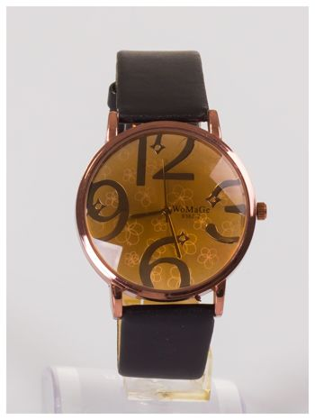 Damski zegarek z ozdobnym dyskretnym motywem kwiatowym na tarczy                                  zdj.                                  1