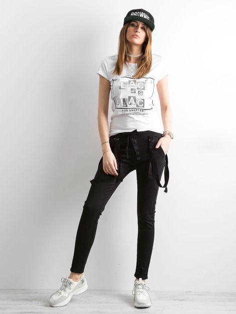 Damskie spodnie jeansowe czarne                              zdj.                              4