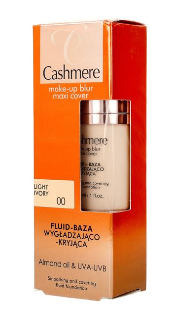 """Dax Cosmetics Cashmere Fluid-Baza wygładzająco-kryjąca nr 00 Light Ivory  30ml"""""""