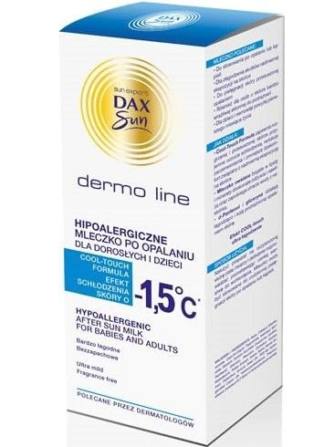 Dax Sun Dermo Line Mleczko po opalaniu chłodzące dla dorosłych i dzieci hipoalergiczne 200 ml