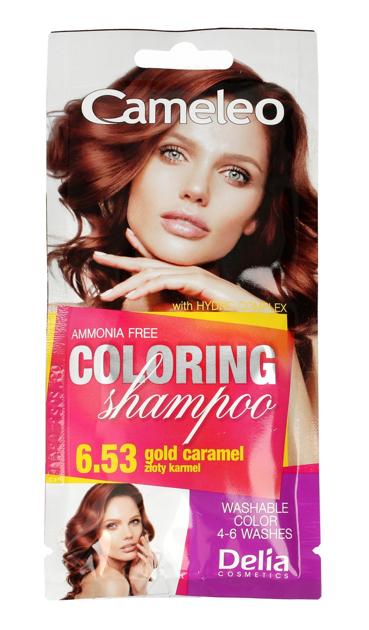 """Delia Cosmetics Cameleo Szampon koloryzujący nr 6.53 Złoty Karmel  1szt"""""""