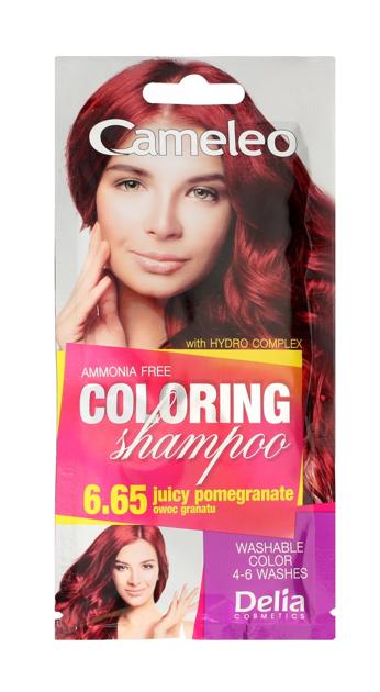 """Delia Cosmetics Cameleo Szampon koloryzujący nr 6.65 Owoc Granatu  1szt"""""""