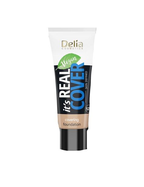 """Delia Cosmetics It's Real Cover Podkład kryjący rewitalizująco-nawilżający nr 205 Caramel  30ml"""""""