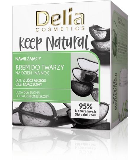 """Delia Cosmetics Keep Natural Nawilżający Krem do twarzy na dzień i noc 50ml"""""""