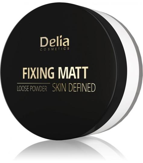 "Delia Cosmetics Skin Defined Puder sypki Fixing Matt nr 41 White 20g"""