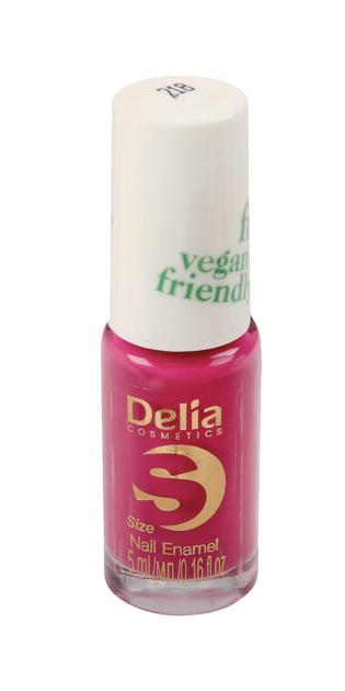 "Delia Cosmetics Vegan Friendly Emalia do paznokci Size S nr 218 Pink Promise 5ml"""