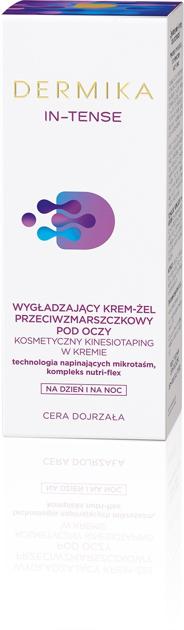 """Dermika In-Tense Wygładzający Krem-żel przeciwzmarszczkowy pod oczy na dzień i noc  15ml"""""""