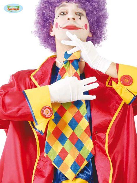 Duży kolorowy krawat klauna na imprezy                              zdj.                              1