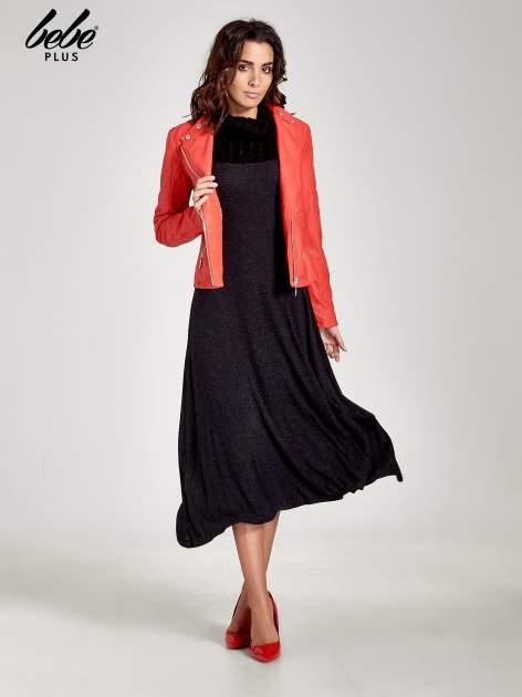 Dzianinowa sukienka maxi z warkoczowym golfem                                  zdj.                                  2