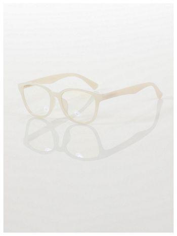 ECRU! Modne okulary zerówki klasyczne - soczewki ANTYREFLEKS,system FLEX na zausznikach                                  zdj.                                  1