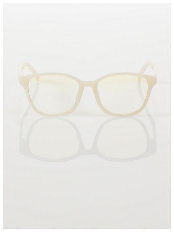 ECRU! Modne okulary zerówki klasyczne - soczewki ANTYREFLEKS,system FLEX na zausznikach                                  zdj.                                  2