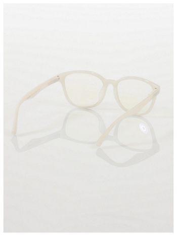 ECRU! Modne okulary zerówki klasyczne - soczewki ANTYREFLEKS,system FLEX na zausznikach                                  zdj.                                  4