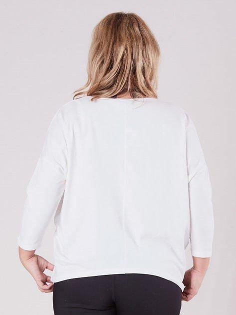 b226f510bff63d Ecru asymetryczna bluzka damska PLUS SIZE - Bluzka plus size - sklep ...