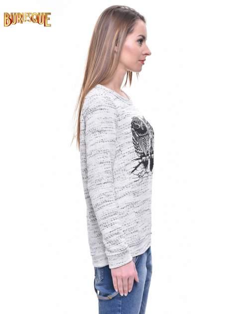 Ecru bluza damska z sówkami                                  zdj.                                  3