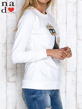 Ecru bluza z cekinowym kotem                                  zdj.                                  4