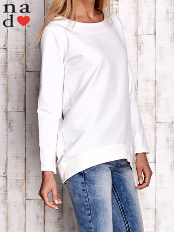 Ecru bluza z dekoltem w łódkę                                  zdj.                                  3