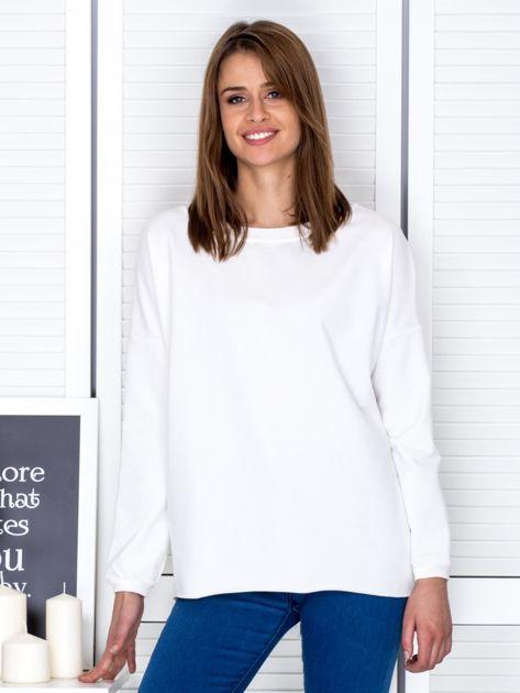 Ecru bluza z listwą z perełek                                  zdj.                                  1