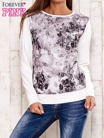 Ecru bluza z motywem roślinnym
