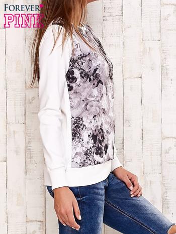 Ecru bluza z motywem roślinnym                                  zdj.                                  3