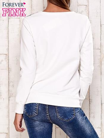 Ecru bluza z motywem roślinnym                                  zdj.                                  4