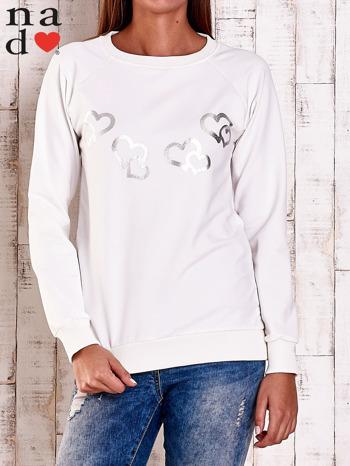 Ecru bluza z motywem serduszek                                  zdj.                                  1