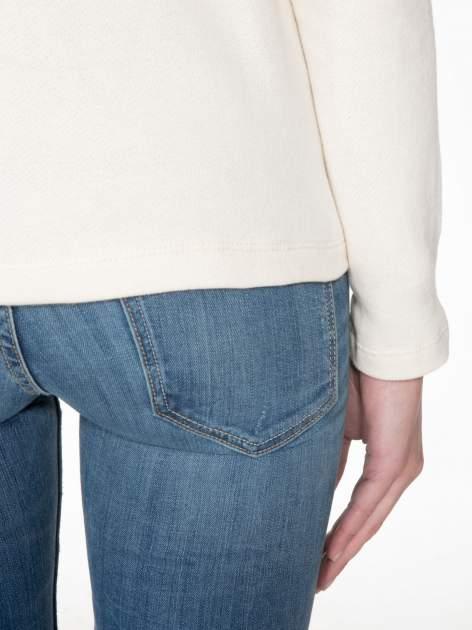 Ecru bluza z ozdobnym suwakiem                                  zdj.                                  8