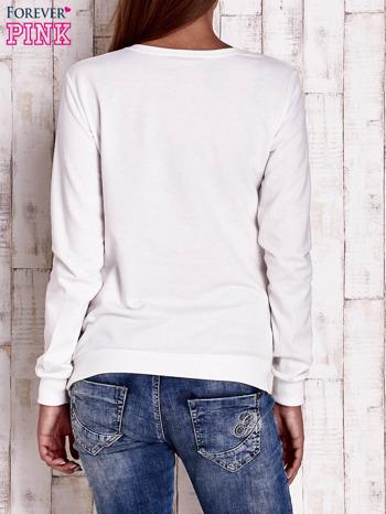 Ecru bluza ze zwierzęcym nadrukiem                                  zdj.                                  4