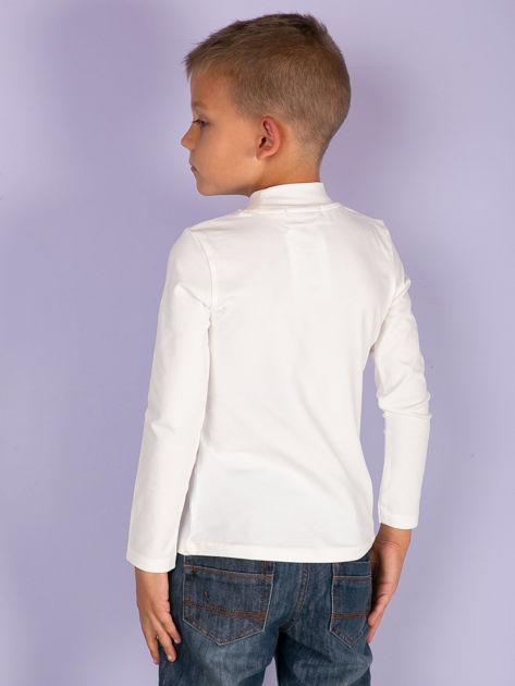Ecru bluzka dziecięca z półgolfem                               zdj.                              8