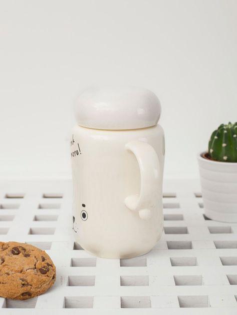 Ecru ceramiczny kubek zamykany                              zdj.                              3