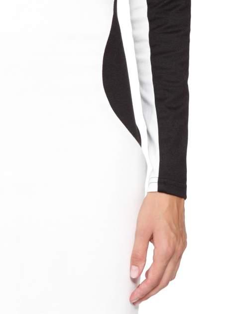 Ecru-czarna sukienka modułowa z zamkiem z tyłu                                  zdj.                                  7