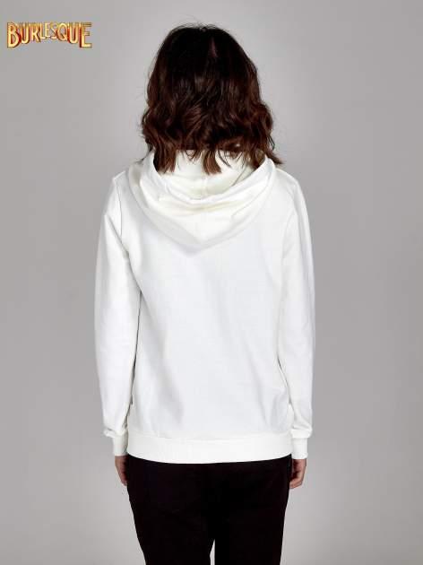 Ecru damska bluza z kapturem i napisem SEATLE 1990                                  zdj.                                  2