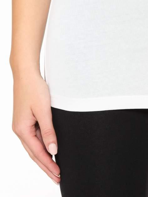 Ecru gładki top na szerokich ramiączkach                                  zdj.                                  7