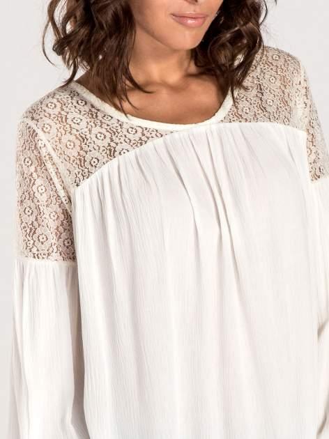 Ecru koszula z koronkową górą w stylu boho                                  zdj.                                  5