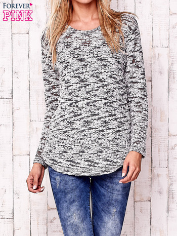 Ecru melanżowy sweter