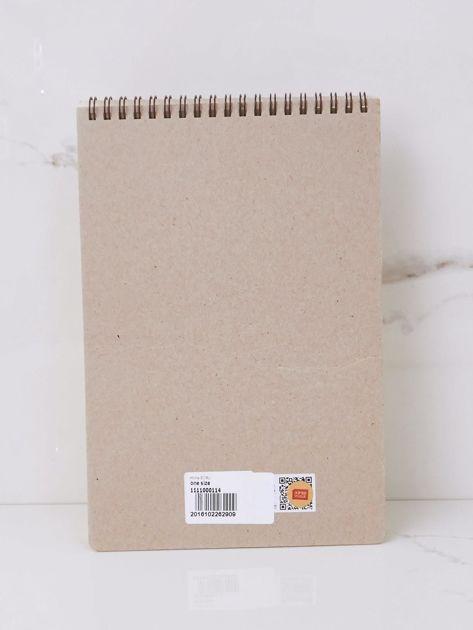 Ecru notatnik z nadrukami                              zdj.                              3