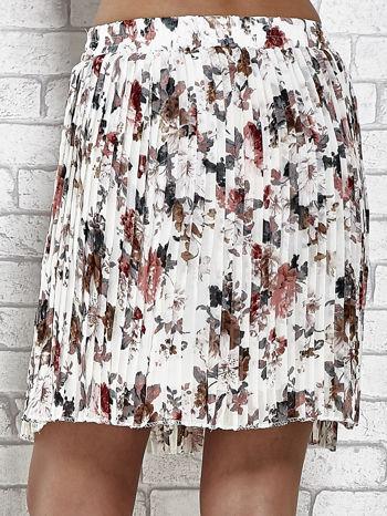 Ecru plisowana spódnica w kwiaty                                  zdj.                                  7