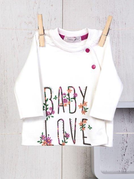 Ecru-różowy 5-elementowy 100% bawełniany zestaw niemowlęcy dla dziewczynki w kwiatuszki                                  zdj.                                  2