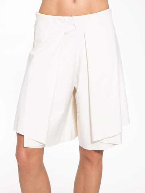 Ecru spódnicospodnie z zakładkami                                  zdj.                                  8