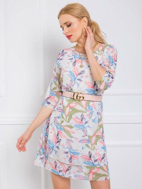 Ecru sukienka Cassie RUE PARIS