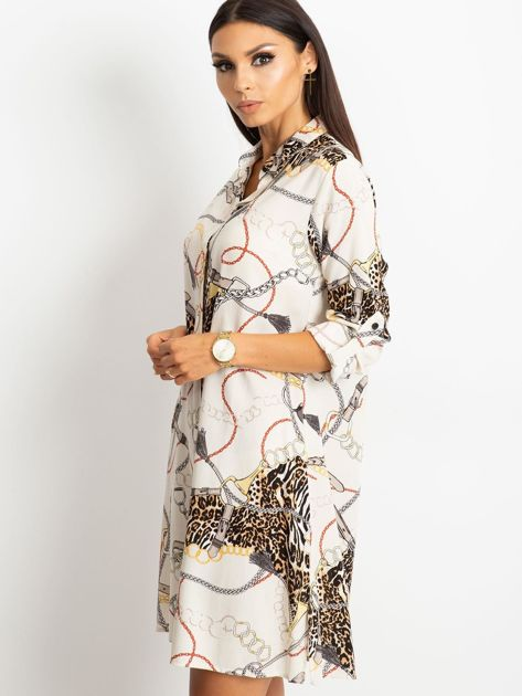 Ecru sukienka Gracia                              zdj.                              3
