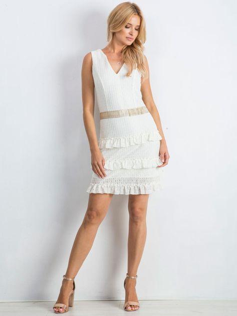 Ecru sukienka Versatility                              zdj.                              4