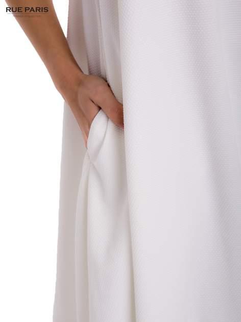 Ecru sukienka rozkloszowana dzwonek                                  zdj.                                  6