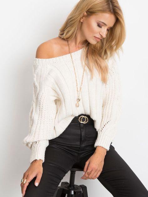 Ecru sweter Tulsa                              zdj.                              1